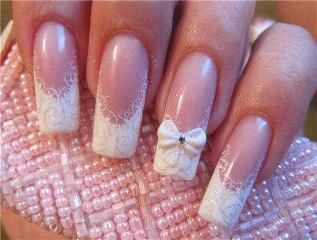 Фото наращивания ногтей на свадьбу